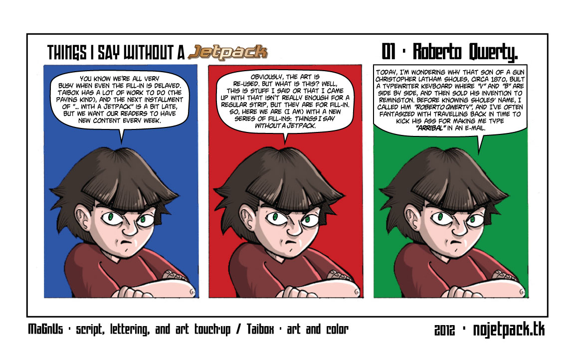 Things I Say Without A Jetpack 01 - Roberto Qwerty.